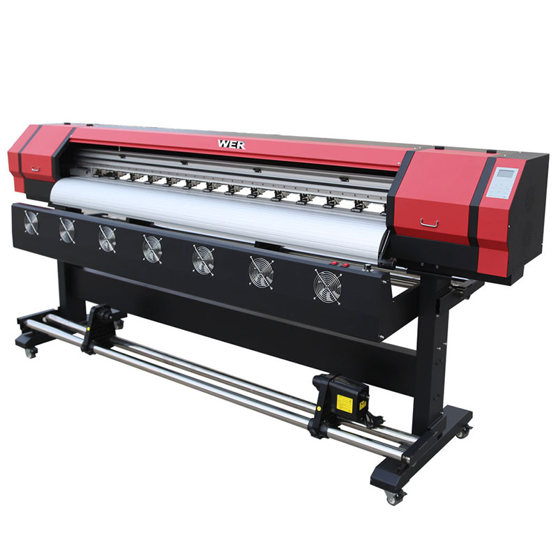 1.8m eco solvent digital printer double printer head DX5 WER-ES1901
