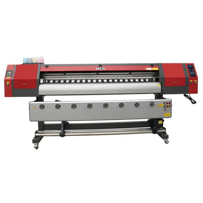 Impressora de sublimação de tingimento de formato de 1,8 m de largura com três cabeças de impressão dx5 para impressão de t-shirt WER-EW1902