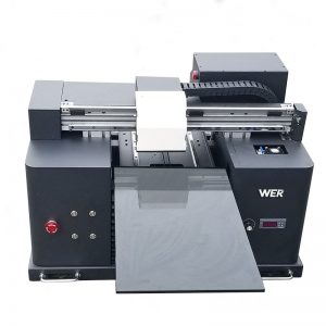 2017 cheap A4 size desktop tablet uv led flatbed digital printer WER-E1080UV
