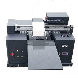 2018 UV led flatbed printer a4 dtg t shirt logo printing machine for sale WER-E1080T