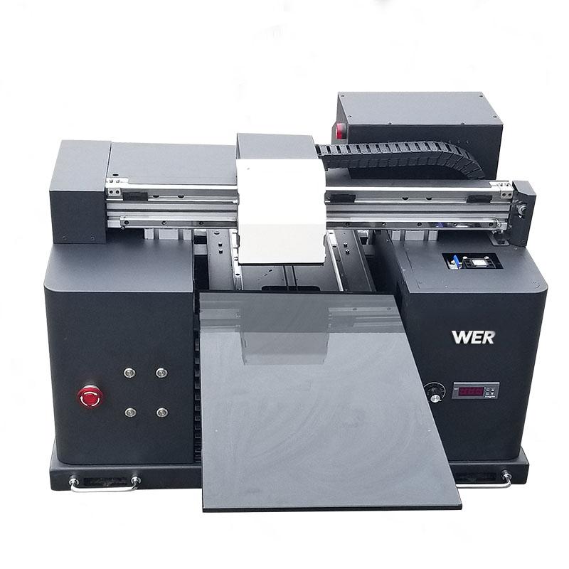 2018 UV gelei flatbed printer a4 dtg t-shirt logo druk masjien te koop WER-E1080T