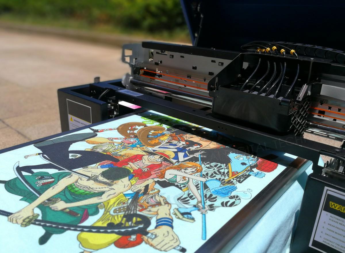 2. Принтерът A3 DTG цифров мастиленоструен принтер, предназначен за хартия за хартия за трикотаж с размер 33 * 50, гарантира, че можете да печатате на всякакви носители с макс. 33 * 50см площ за печат. 3. Бързата скорост на печат чрез отпечатване върху размер A3 с пълен цвят се нуждае само от 64 секунди с машината ни за печатане на трици. 4. Лесният панел за управление може да управлява платката за Backward, Foward, Up, Down, Pause / Stop, Online / Офлайн и промяна на мастилото, за да ви позволи да работите с машината по-убедително. Тя има добър сензорен екран може да се коригира параметрите easily.You също могат да променят езиците от китайски на english.It отговарят на всеки клиент изискване.