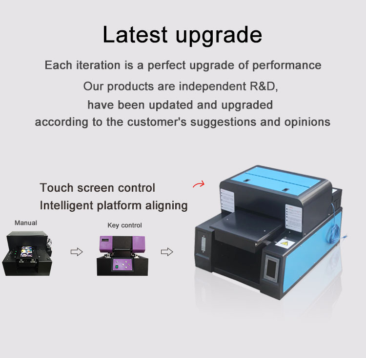 A3 size flatbed UV printer