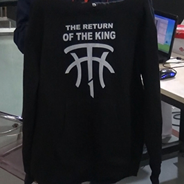 Black sweater printing sample by A2 t-shirt printer WER-D4880T