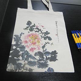 Canvas bag printing sample by A2 t-shirt printer WER-D4880T