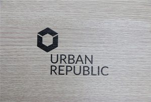 Logo printing on wood materials by WER-D4880UV