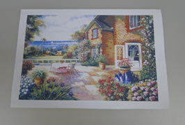 Oil Canvas printed by 2.5m (8 feet) eco solvent printer WER-ES2501 2