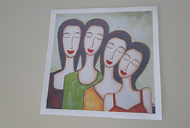 Oil Canvas printed by 2.5m (8 feet) eco solvent printer WER-ES2502 2