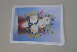 Oil Canvas printed by 2.5m (8 feet) eco solvent printer WER-ES2502