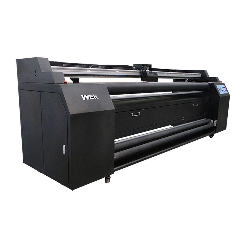 WER-E1802T 1,8 m d'impressora directa a tèxtil amb impressora de sublimació 2 * DX5