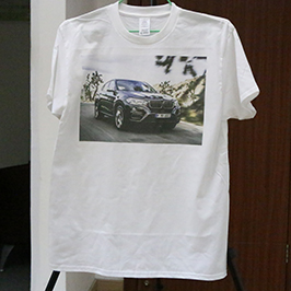 White t-shirt printing sample by A3 t-shirt printer WER-E2000T 2