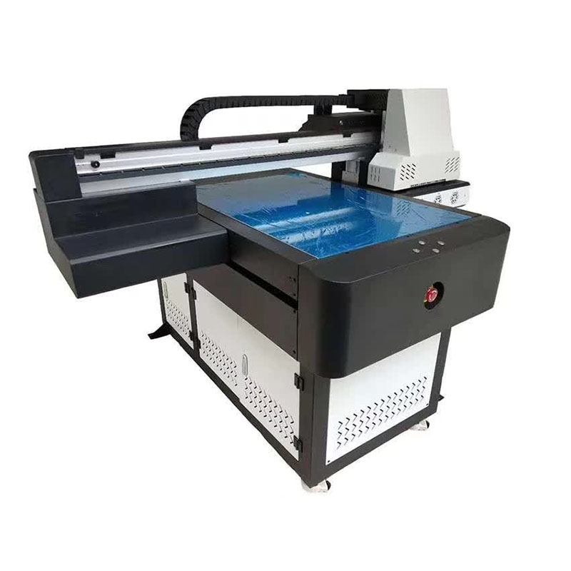 best price 3d A3 digital textile vinyl ceramic tile UV led flatbed Printer with 8 colors WER-ED6090UV