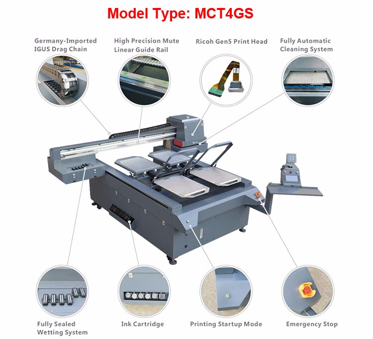 digital uv flatbed inkjet direct textile printer t shirt DTG printer