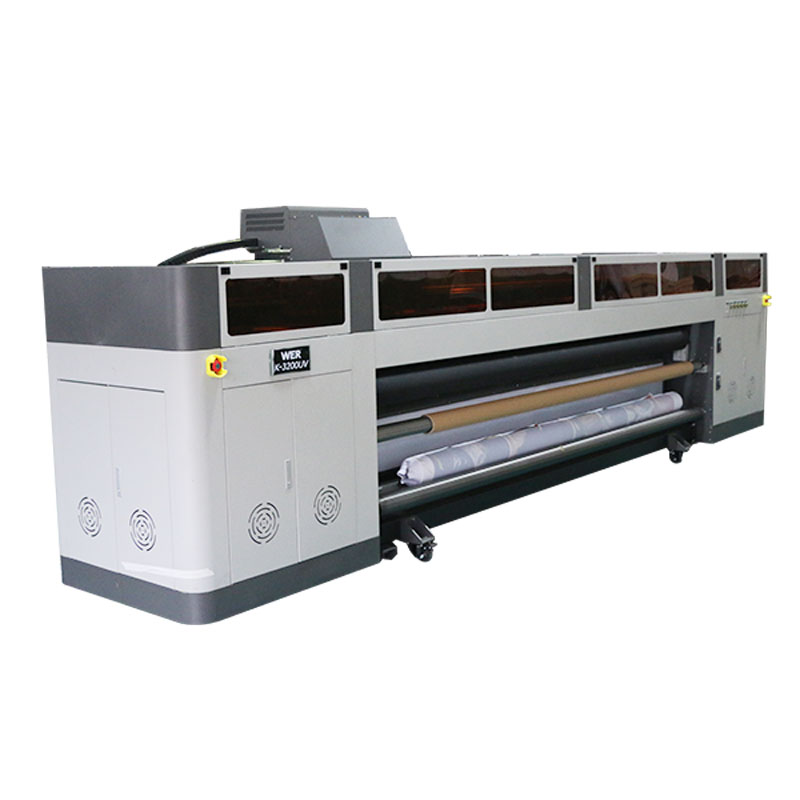عالية الدقة عالية السرعة الرقمية طابعة نافثة للحبر مع رأس الطباعة ricoh gen5 الأشعة فوق البنفسجية الراسمة WER-G-3200UV
