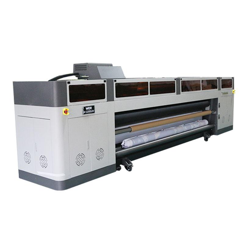 high resolution high speed digital inkjet printer machine with ricoh gen5 print head UV plotter WER-G-3200UV