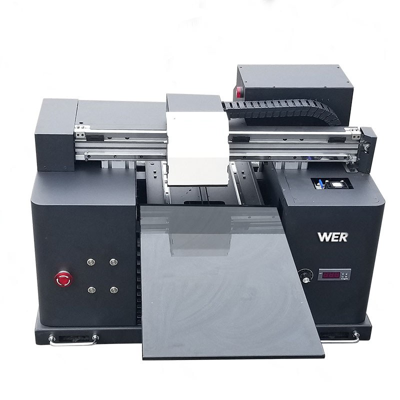 print white and color ink same time fast desktop digital gradient direct to garment DTG T-shirt tshirt printer printing machine WER-E1080T
