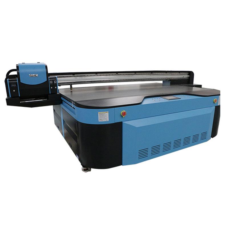 wit kleur 2,5 m * 1,3 m afdrukgrootte 3D reliëf industriële LED UV-printer voor metaal; hout; glas; keramiek; karton; acryl; pvc,
